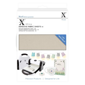 Xcut Xtras A5 Adhesive Fabric Sheets (10pcs)