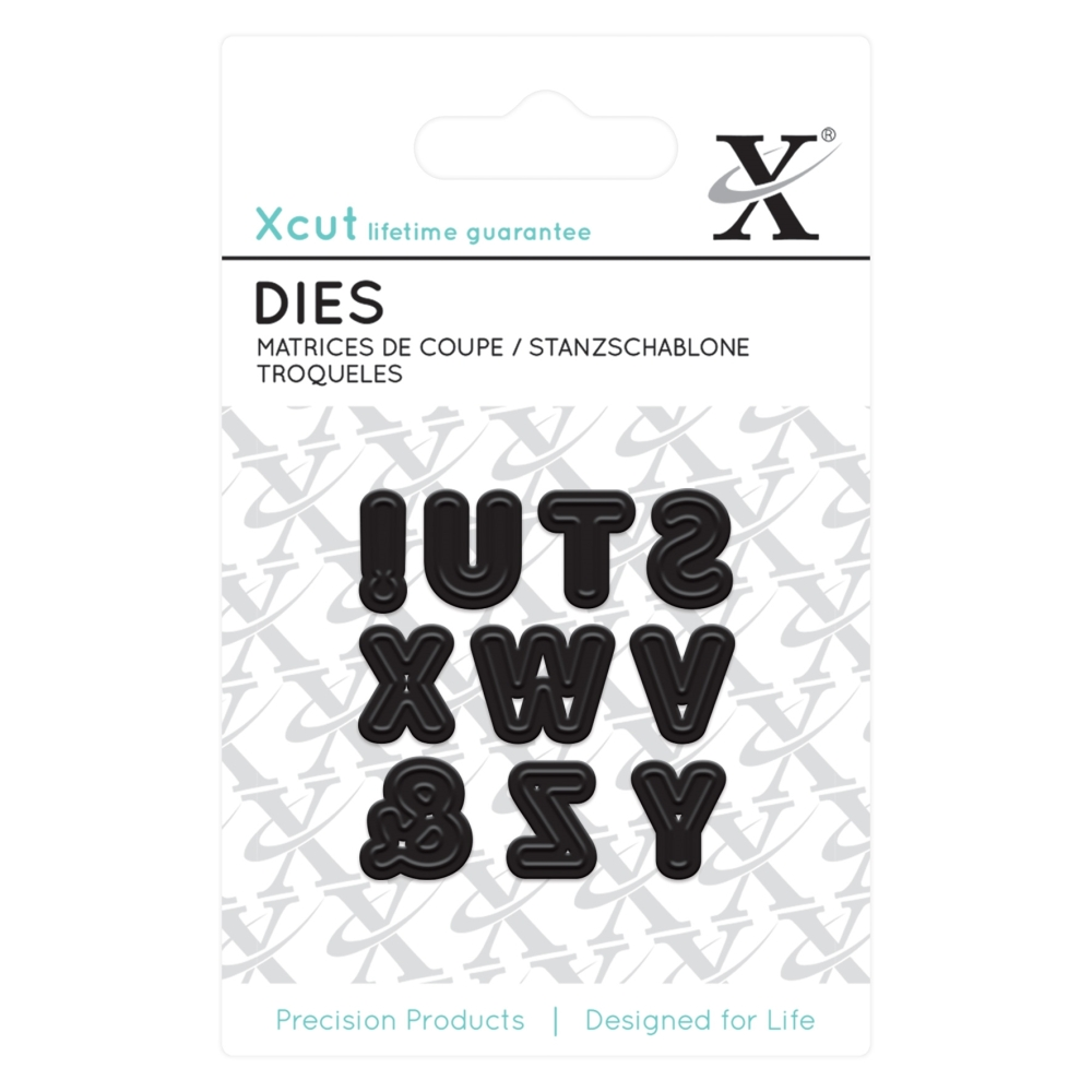Mini die - Alphas pt3 : Die cutting die by Docrafts