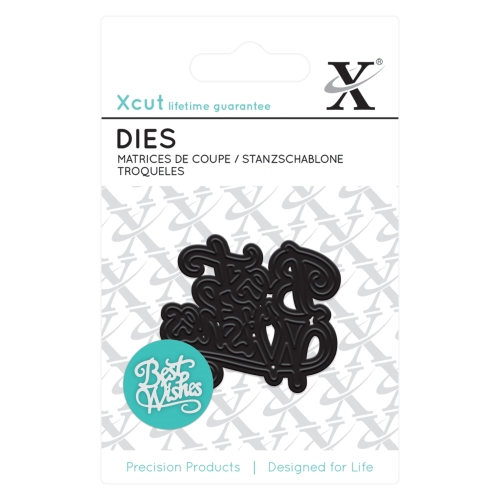 Mini die - Best Wishes : Die cutting die by Docrafts