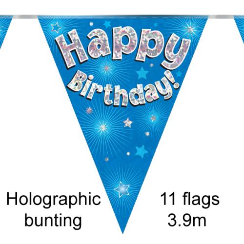 Birthday Blue Bunting - 3.9m
