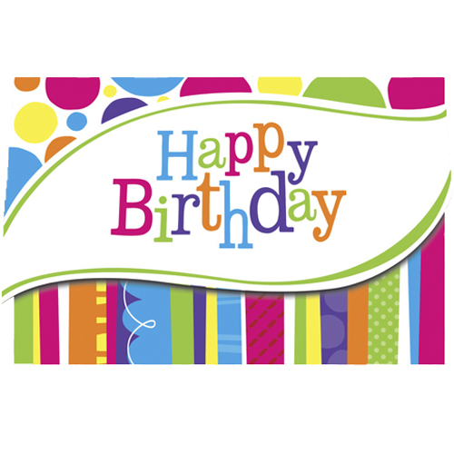 Birthday 'Bright & Bold' Party Invites pk8