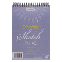 Stephens Sketch Pad - White, A5, 155gsm, 30 sheets.