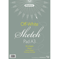 Stephens Sketch Pad - White, A3, 155gsm, 30 sheets.