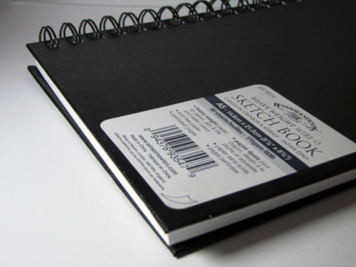 Winsor & Newton Heavyweight Wire-O Sketch Book - White, A5, 170 gsm, 50 she