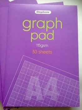 Stephens Graph Pad, A4, 115 gsm, 30 sheets.