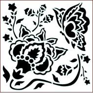 Imagination Craft 15cm x 15cm Stencil - Butterfly Blossom