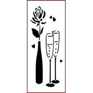 Imagination Craft 18.8cm x 7.8cm Stencil - Champagne Rose