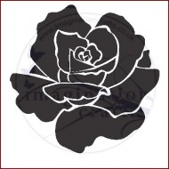 Imagination Craft 15cm x 15cm Stencil - Rose large flower