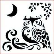 Imagination Craft 15cm x 15cm Stencil - Moonlight Owl
