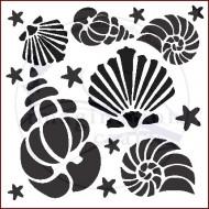 Imagination Craft 15cm x 15cm Stencil - Shells
