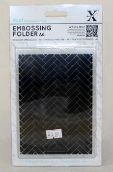 A6 Xcut Embossing folder - Parquet  Tiles