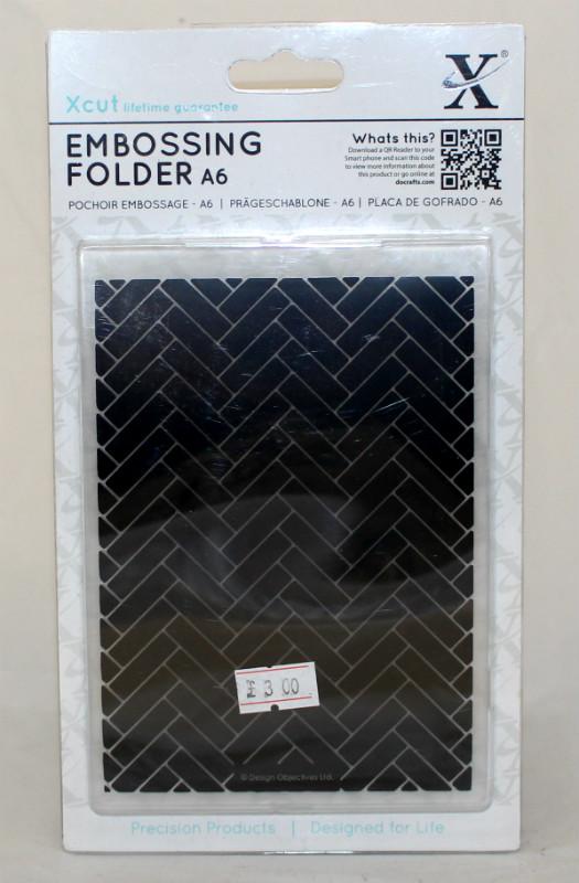 A6 Xcut Embossing folder