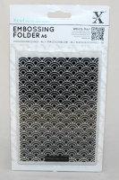 A6 Xcut Embossing folder - Art Deco Scallop