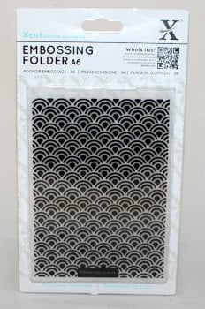 A6 Xcut Embossing folder - Art Deco Scallop