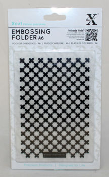 A6 Xcut Embossing folder - Moroccan cross tiles