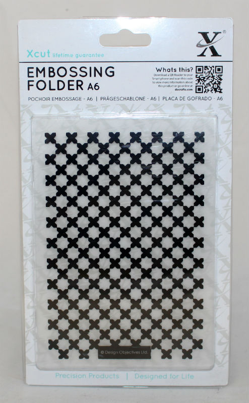 A6 Xcut Embossing folder - Moroccan Flower tiles