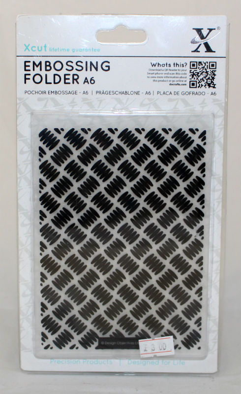 A6 Xcut Embossing folder - Galvanised Steel