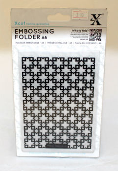 A6 Xcut Embossing folder - Moraccan Star Tiles