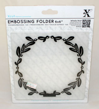 Xcut Embossing folder 6 x 6 - Mistletoe Frame