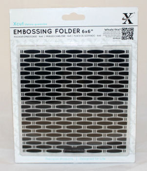 Xcut Embossing folder 6 x 6 - Wicker