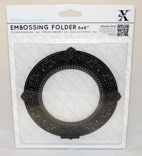 Xcut Embossing folder 6 x 6 - Round Gilt Frame