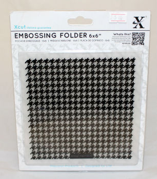 Xcut Embossing folder 6 x 6 - Dogtooth Pattern
