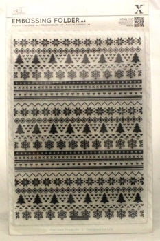 A4 Xcut Embossing folder - Fairisle Pattern