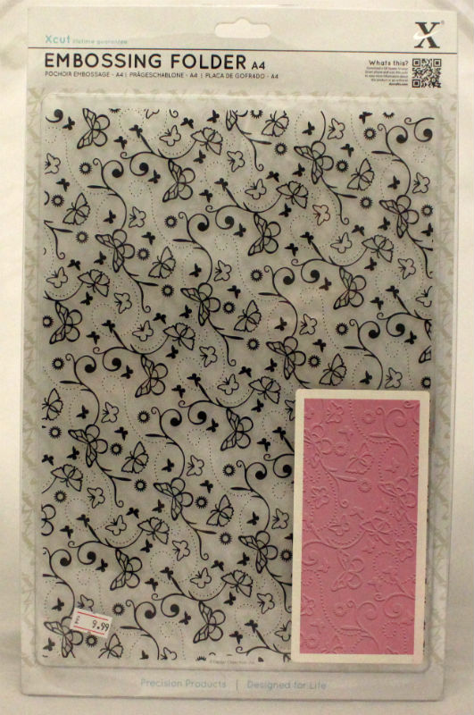 A4 Xcut Embossing Folder - Butterfly Pattern