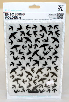 A5 Xcut Embossing Folder - Swallow Pattern