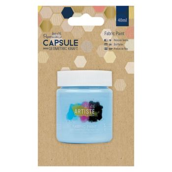 docrafts Papermania Fabric Paint - Capsule - Geometric Kraft - Sky Blue