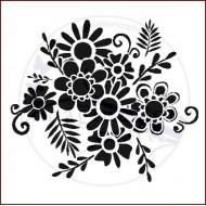 Imagination Crafts 15cm x 15cm Stencil Template - Flower Bunch