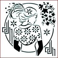 Imagination Craft 15cm x 15cm Stencil - Art Deco Lady
