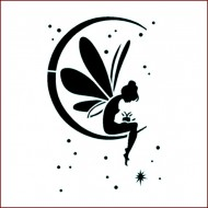 Imagination Craft 15cm x 15cm Stencil - Fairy Moon