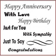 Imagination Craft 15cm x 15cm Stencil - Happy Anniversary