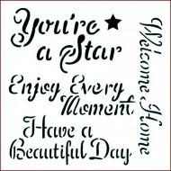 Imagination Craft 15cm x 15cm Stencil - You're a star