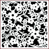 Imagination Craft 15cm x 15cm Stencil - Daisy Flourish