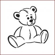Imagination Craft 15cm x 15cm Stencil - Teddy