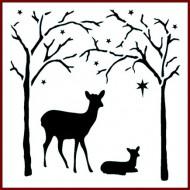 Imagination Craft 15cm x 15cm Stencil - Forest Deer