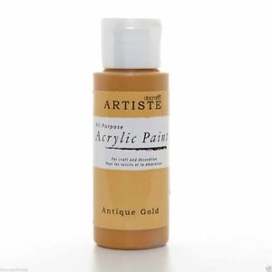 Artiste Acrylic Paint - Antique Gold