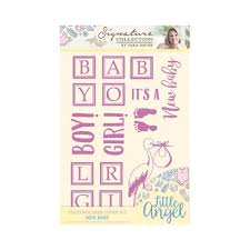 Crafters Companion Signature Collection Photopolymer Stamp Set - New Baby