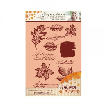 Crafters Companion Signature Collection Photopolymer Stamp Set - Rustling Leaves