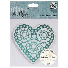 """5x5"""" Urban Stamps - Vintage Notes (Heart)"""