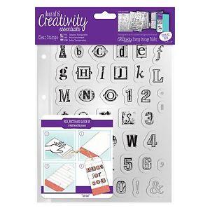 A5 Clear Stamp Set (41pcs) - Alphabet