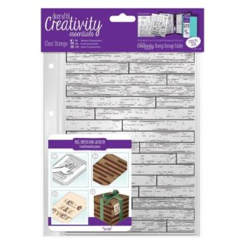 A5 Clear Stamp Set (1pc) - Wooden Boards Background