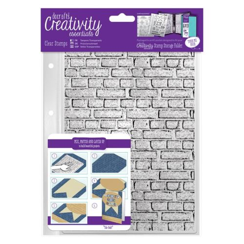A5 Clear Stamp Set (1pc) - Brickwork Background