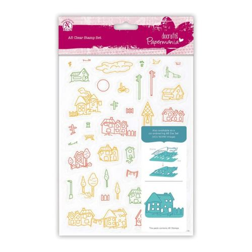 Papermania Clear Stamps (40pcs) - Village