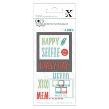 Small Dies (9pcs) - Polaroid Frame and sentiments