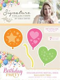Signature Collection - Birthday Party - Decrotive Metal Dies Balloon Trio