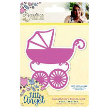 Signature Collection - Little Angel- Decrotive Metal Dies Baby Carriage
