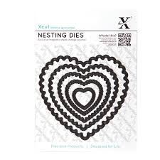 Xcut Dies Nesting Dies - Scalloped Heart (5pcs)